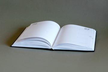 Book on dark background