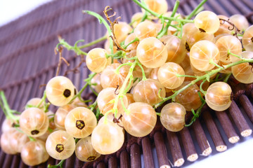 WHITE currant on white background