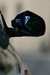 Spiegel Auto Unfall