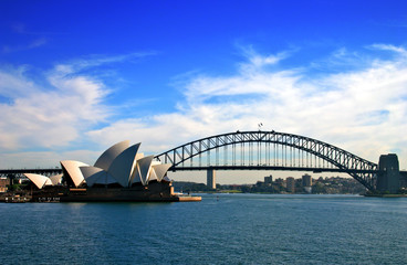 Photo sur Plexiglas Sydney Sydney Opera House and Harbour Bridge..