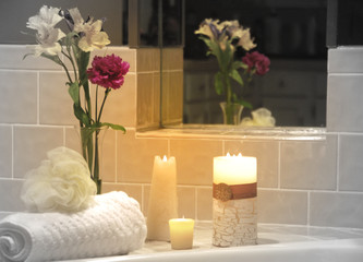 Candle Lit Spa Setting