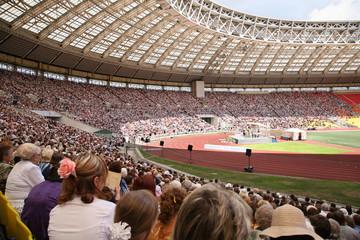 Photo sur Aluminium Stade de football on the sport arena before soccer match