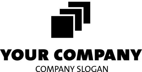 logo mit drei quadraten