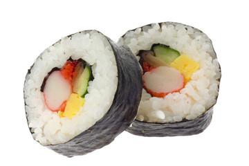 Japanese food - Futomaki isolated on white background..