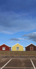 beach huts and parking paces