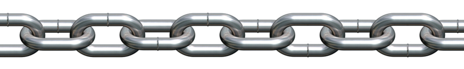 Side view of a straight chain