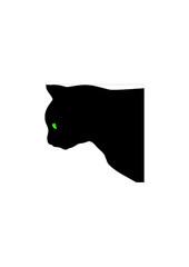 Hunting cat vector