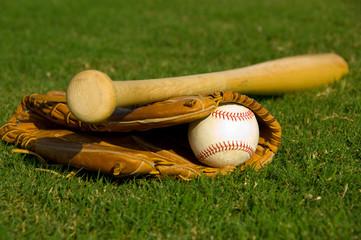 Vintage baseball on base