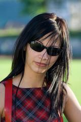 Beautiful fashion girl with sunglass