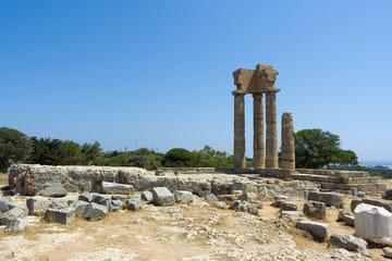 Temple of Pythian Apollo, mt. Smith, Rhodes, Greece