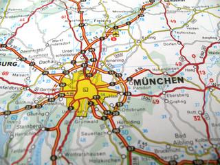 Munich on map