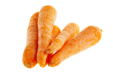 Photo carrots on a white background