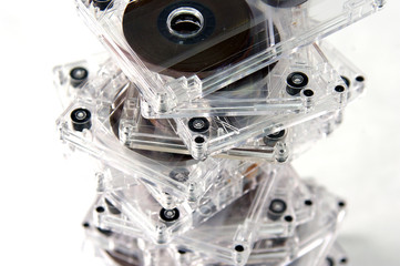 pile of audio cassettes