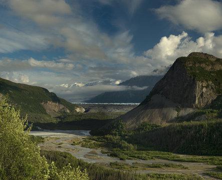Composite image of Matanuska glacier Valley