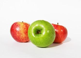 Three  appetizing apples