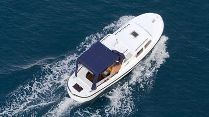 Speeding Motor Boat