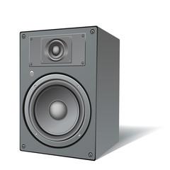 highly detailed, two ways loudspeaker
