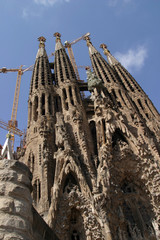 The famous Sagrada Familia church in Barcelona, Spain