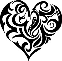 Tribal art: heart-shape