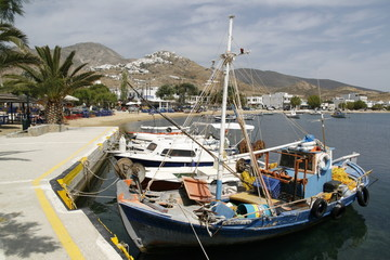 Fisherboat in the harbour of Livadi, Serifos