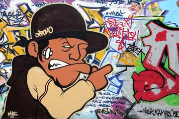 Graffiti on Paris wall