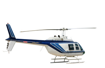 Deurstickers Helicopter Isolated helicopter