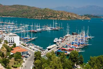Printed kitchen splashbacks Turkey Fethiye Harbour, Turkey