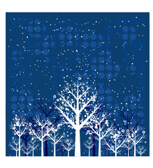 christmas forest, vector