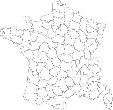 carte des départements francais