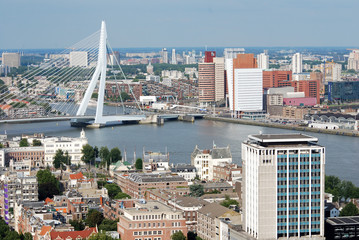 Aerial photo of the City of Rotterdam (the Netherlands)