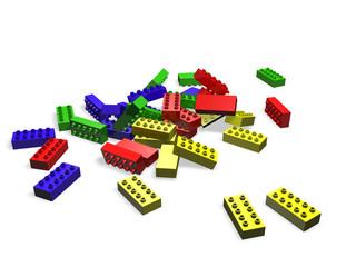3D illustration of lego blocks