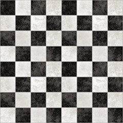 background of black and white marble tiles like a chessboard