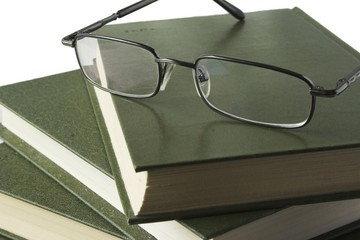 Books and glasses