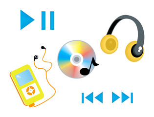 Music Icons with Clipping Paths