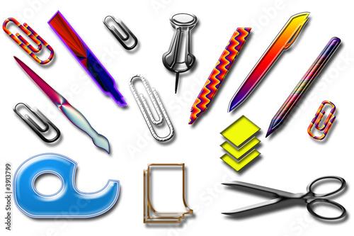 Fournitures de bureau photo libre de droits sur la for Achat fournitures de bureau en ligne