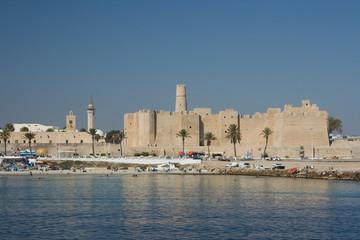 Keuken foto achterwand Tunesië View of Ribat of Monastir against blue sky