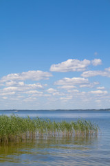 Lake Razna with clouds, captured in Latvia