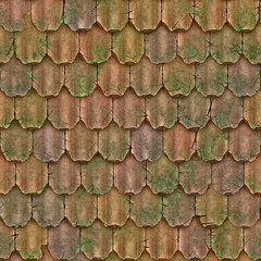 a large background of roof tiles in a row
