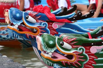 Taiwan - Taipei, course de bateau dragon