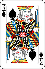 King of spades from deck of playing cards