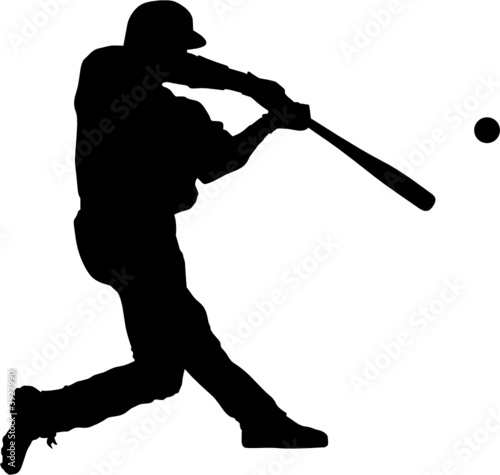 """sport silhouette - baseball player"""" stock image and royalty-free"""