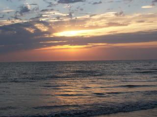 couché de soleil à hardelot-plage(62)