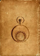 Vintage card in sepia paper