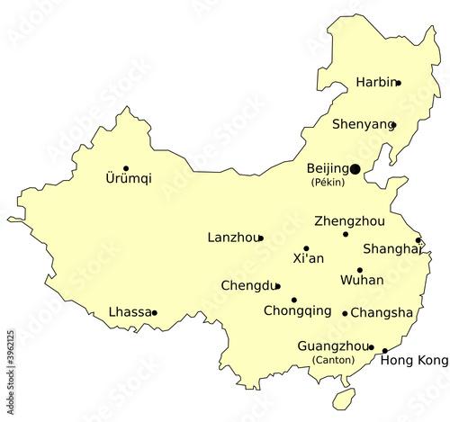 Harbin Carte Chine.Carte De Chine Avec Villes Fichier Vectoriel Libre De