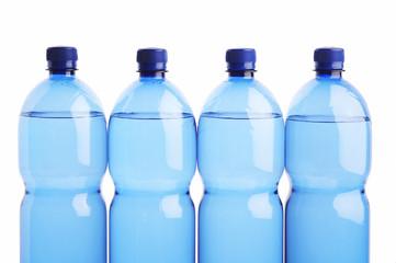 four plastic botles