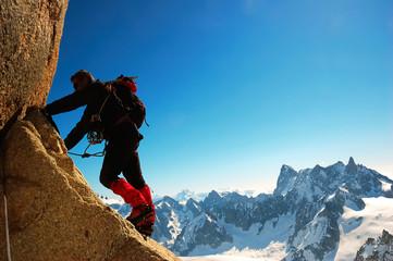 Foto op Aluminium Alpinisme Climber