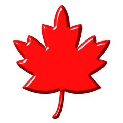 3D Canadian Leaf