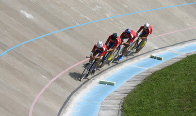 Races on a bicycle track