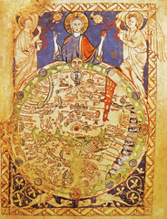 Medieval map with Jerusalem as center of the world