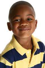 Adorable African American Boy